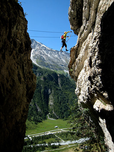 Via ferrata with a Val-d'Isere mountain guide